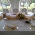 Centro tavola dorato