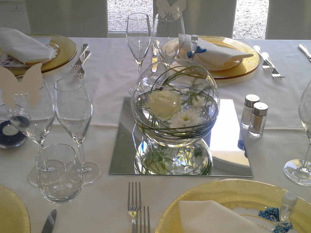 Sala-Veranda- Centro tavolo acqua